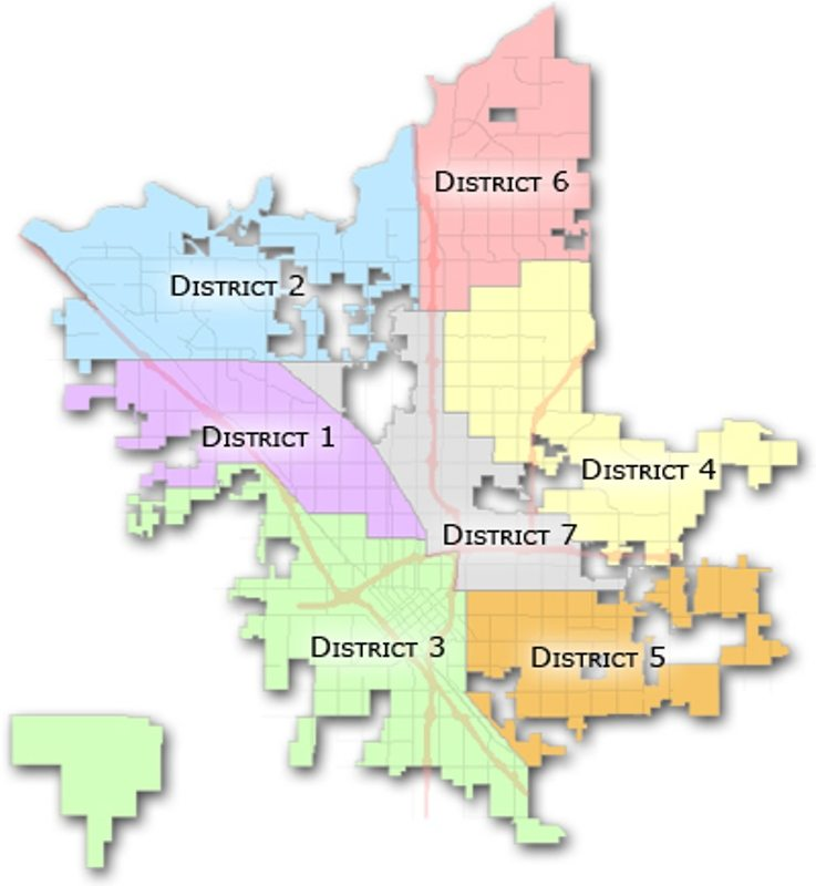 Modern City Map - Fresno California City Of The USA With ... |Fresno Neighborhoods