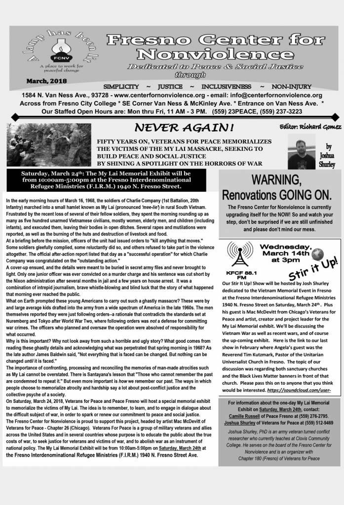 Fresno Center for Nonviolence - March 2018   Community Alliance